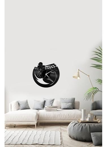 Angemiel Home Beyzbol Pleksi Duvar Saati Siyah